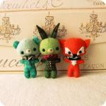 Bunny, Bear and Fox Brooch ..