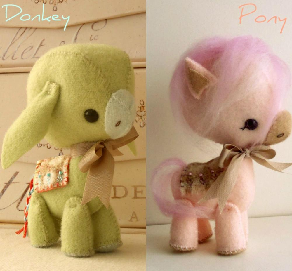 Donkey and Pony pdf Pattern
